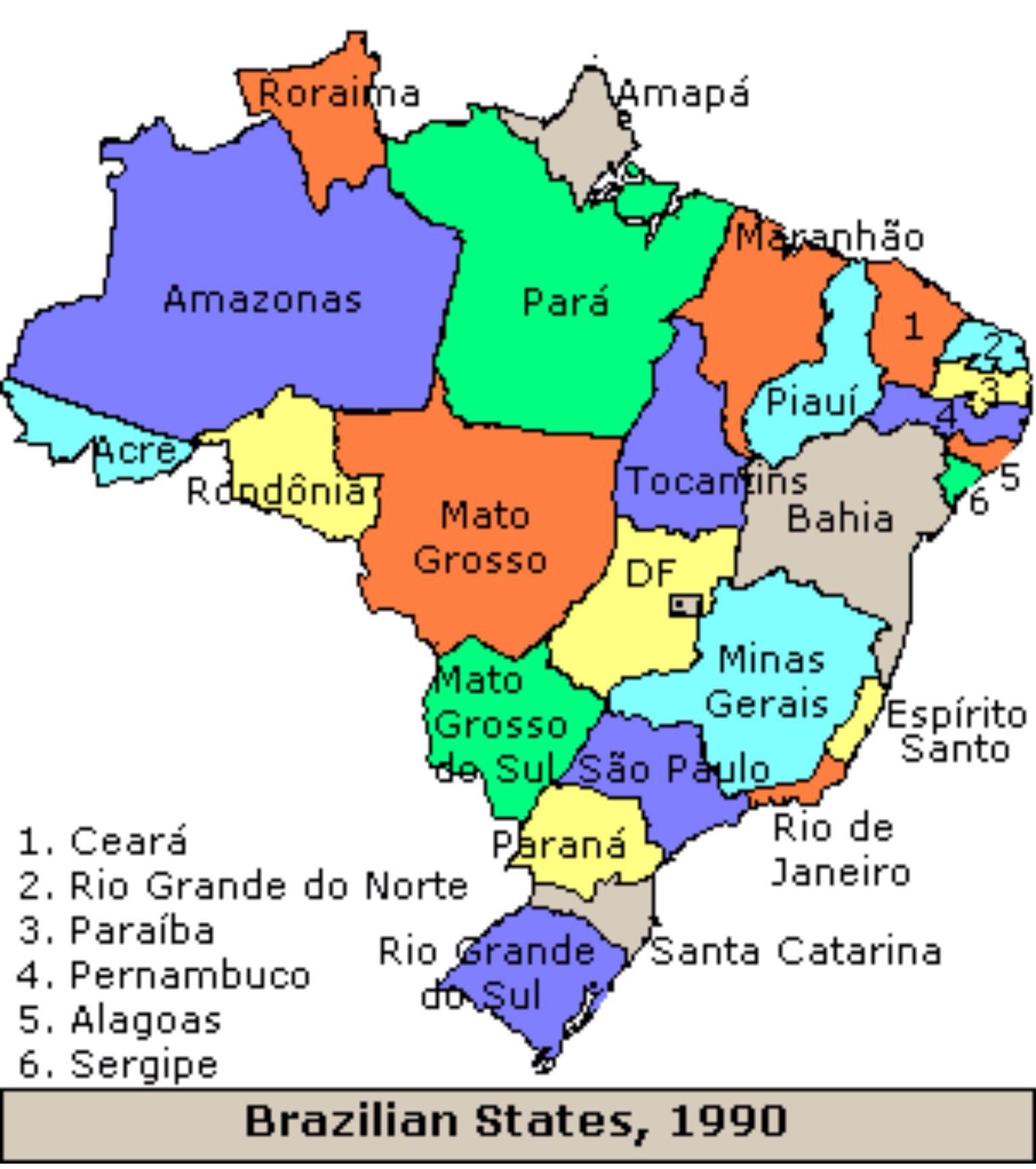 Evolucao Territorial Do Brasil Em 1946 Criacao Do Estado De