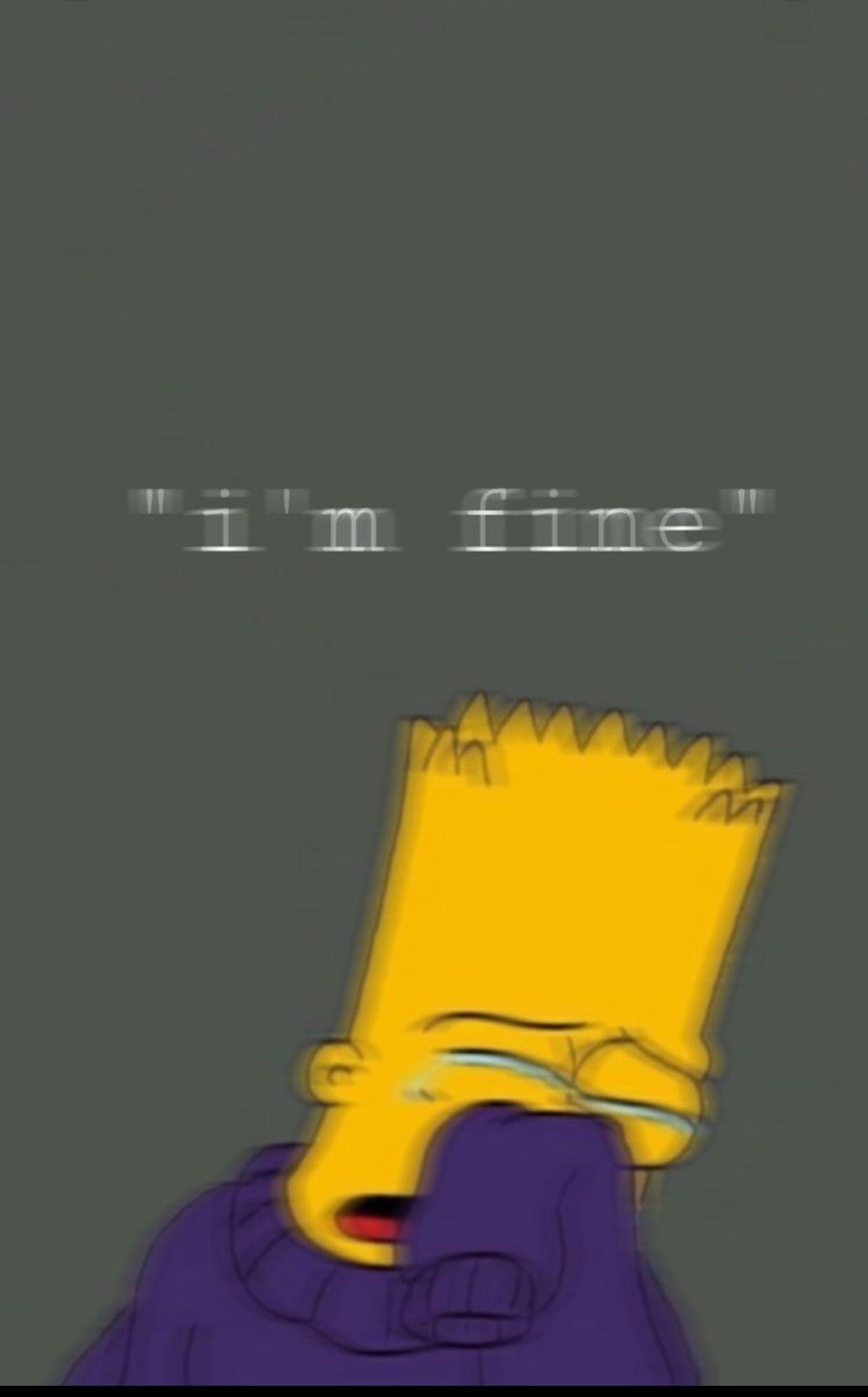 Iphone Broken Hearted Iphone Simpsons Sad Aesthetic Wallpaper