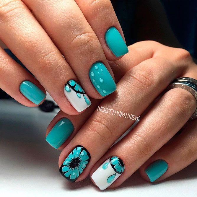 27 Lovely Nail Designs For Summer 2018 | nails | Pinterest | Nail ...