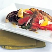 Dale Levitski's Grilled Sirloin and Chicory Salad