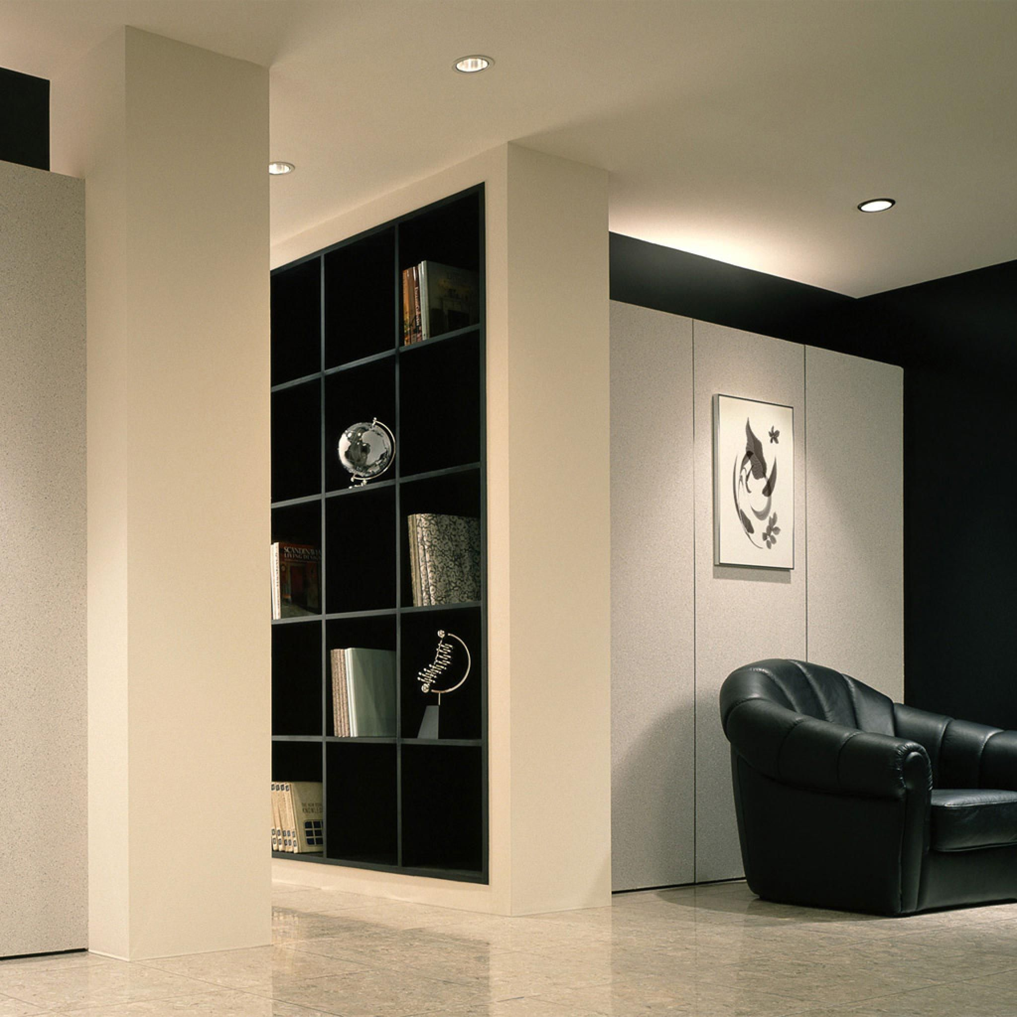 Interior Designs,Excellent Interior Designers Office With Comfortable Black  Leather Sofa Chair On White Flooring