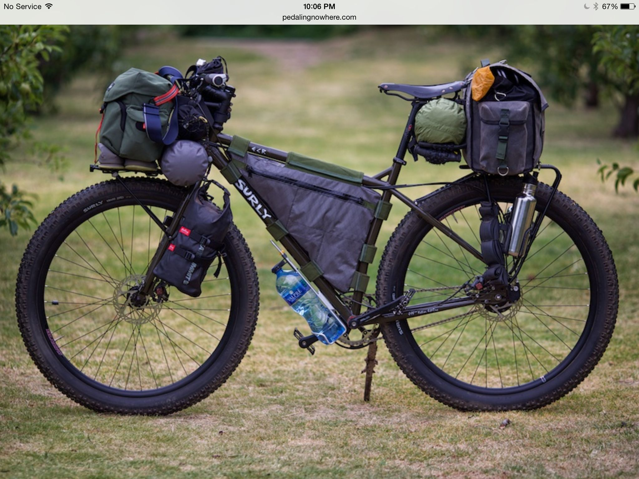 Great Set Up Bike Camping Bicycle Touring Bicycles