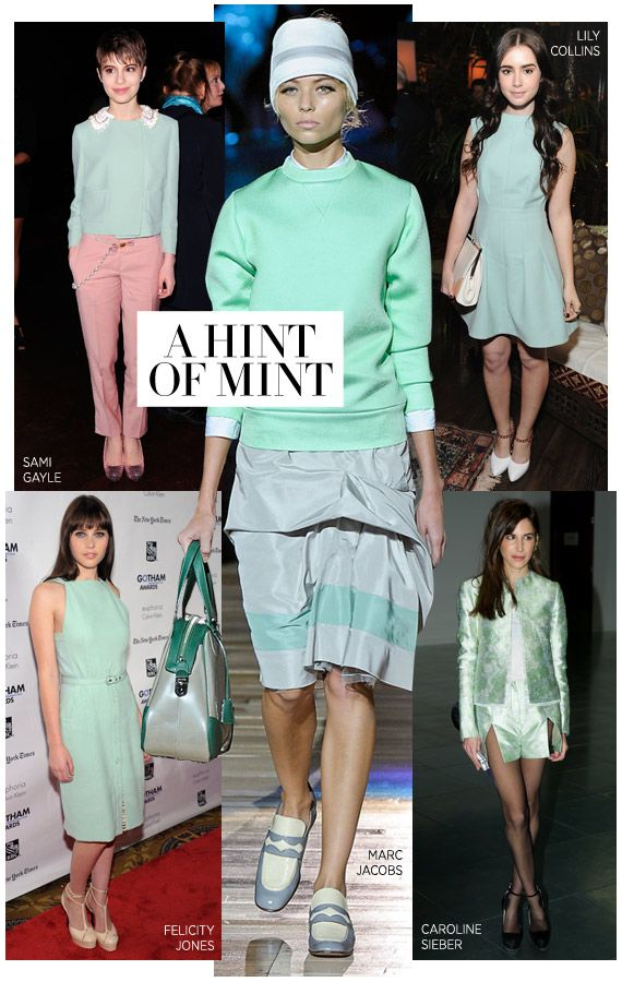 Don this refreshing, cool hue. #harpersbazaar #fashion #trends #mintgreen