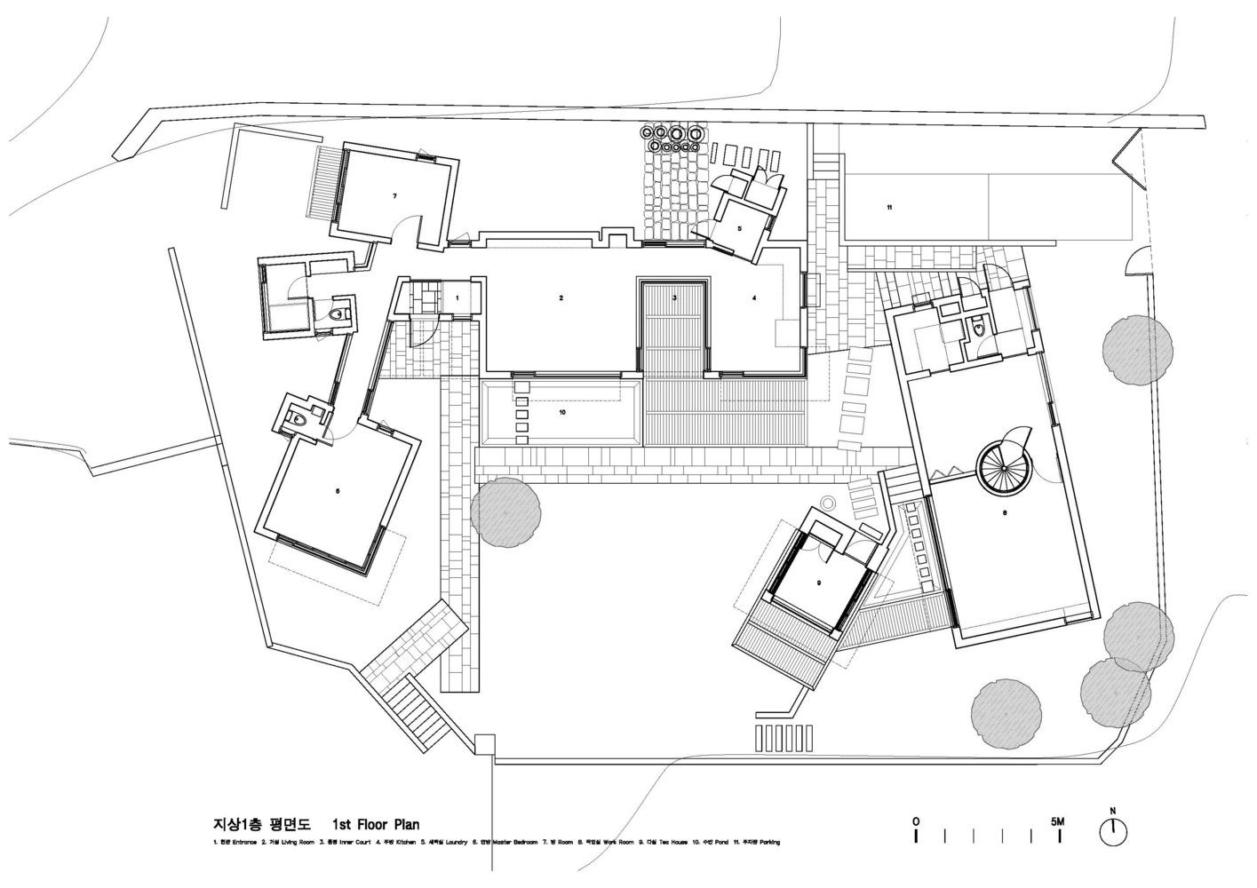 Gallery Of Teochon House Iroje Architects Planners 14 Floor Plans Architect House