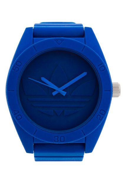 basura llegada Repegar  Reloj Azul Adidas | Reloj, Uñas azules, Adidas