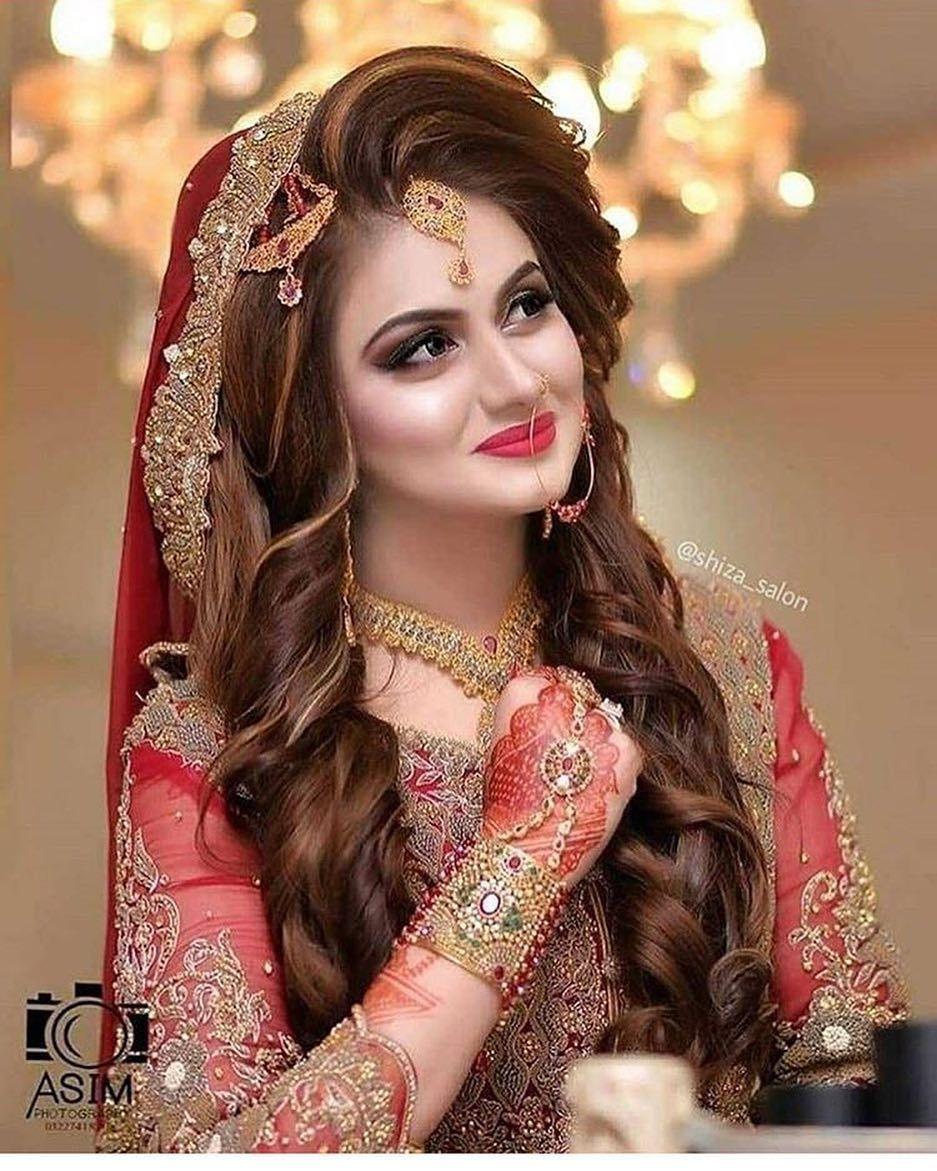 Bride Pakistani For More Bride Pakistani Pakistanibrides Pakistani Pakistaniwedding Pakistani Bridal Hairstyles Pakistani Bridal Makeup Bridal Makeover