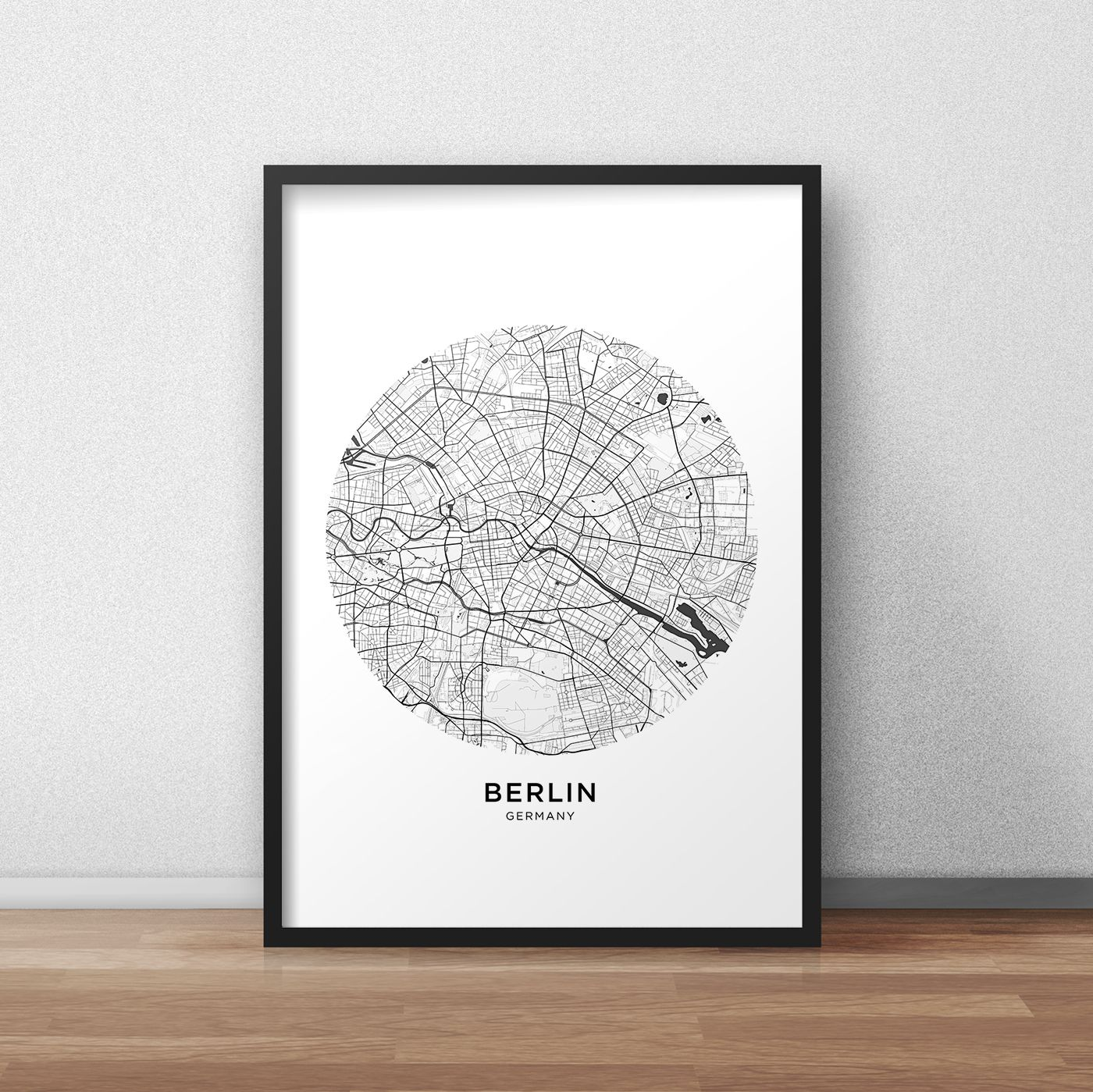 Berlin Map Print Berlin Map Download Circle City Map Berlin