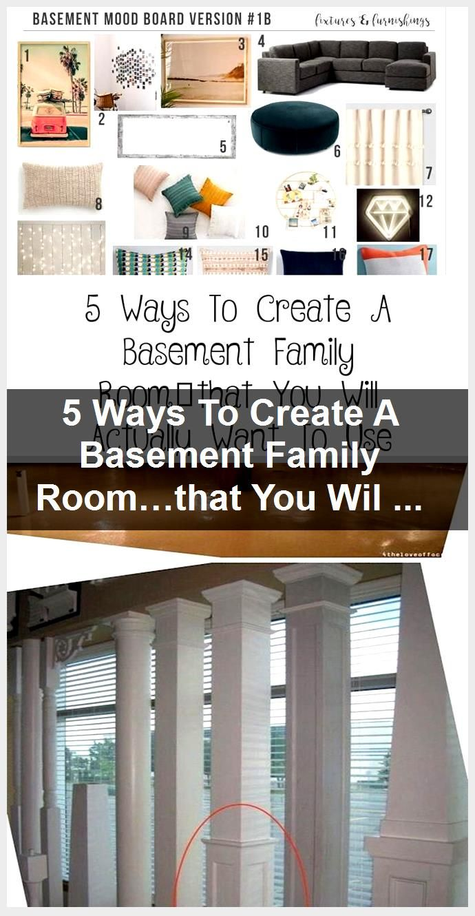 5 Ways To Create A Basement Family Room…that You Will Actually Want To Use - Galafashion, Street Style, Outfits ideas,  #Basement #Create #Family #Galafashion #ideas #outfits #Roomthat #Street #style #Ways