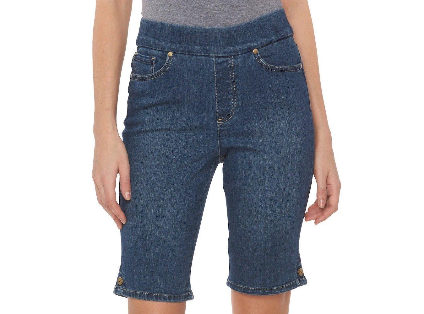 f25f1b9fb84 Womens Gloria Vanderbilt Plus Size Pull On Bermuda Shorts Choose Your Color