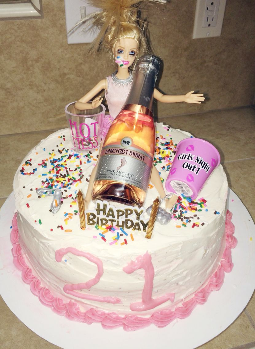 My Version Of The Drunk Barbie Birthday Cake All Of My