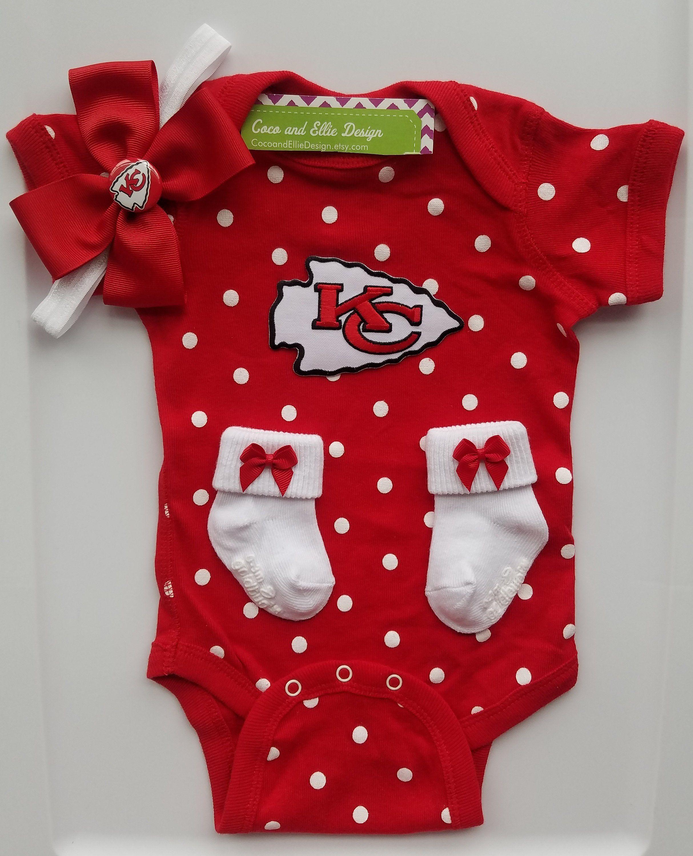 finest selection c2bd5 a46f2 Kansas City Chiefs baby girl outfit/chiefs baby girl/chiefs ...