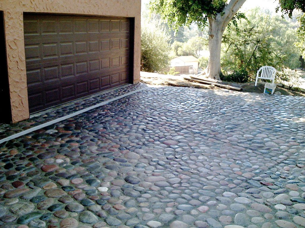 river rock driveway in 2020