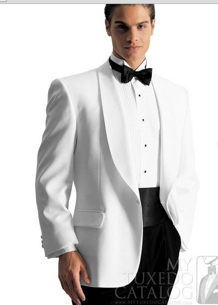 Mens wedding suits 2013 men WHITE 'GERARD' TUXEDO Slim business ...