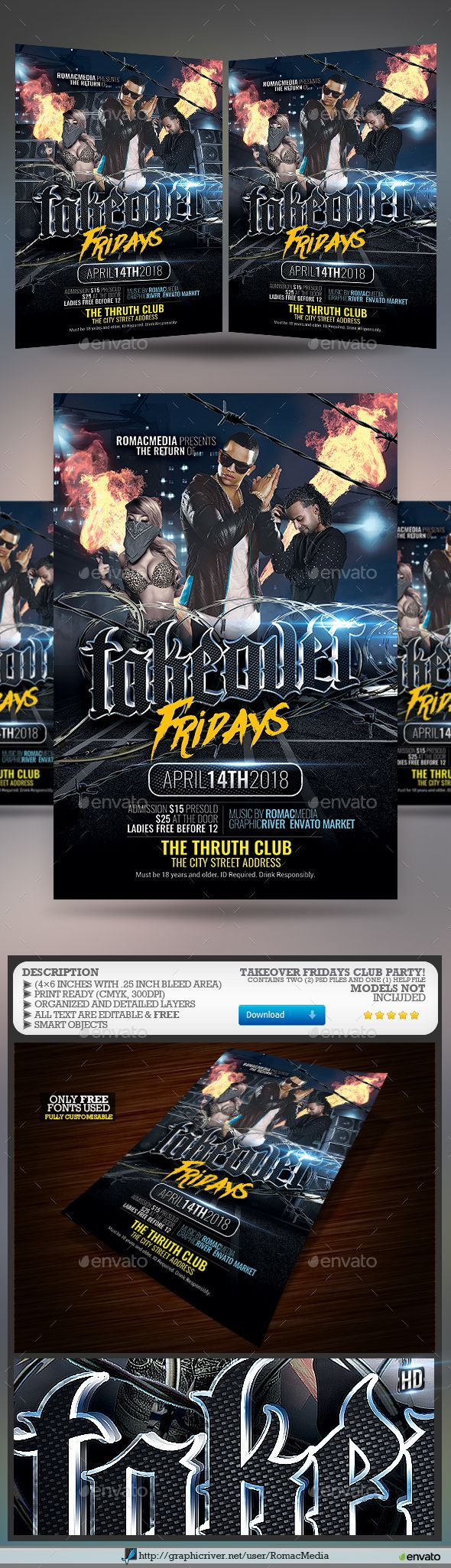 takeover rap flyer fonts logos icons pinterest flyer template