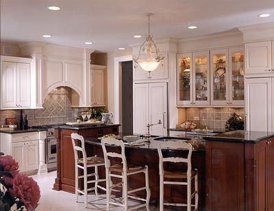 Kitchens .com - Traditional Kitchen Photos - Cherry-Stained Island on