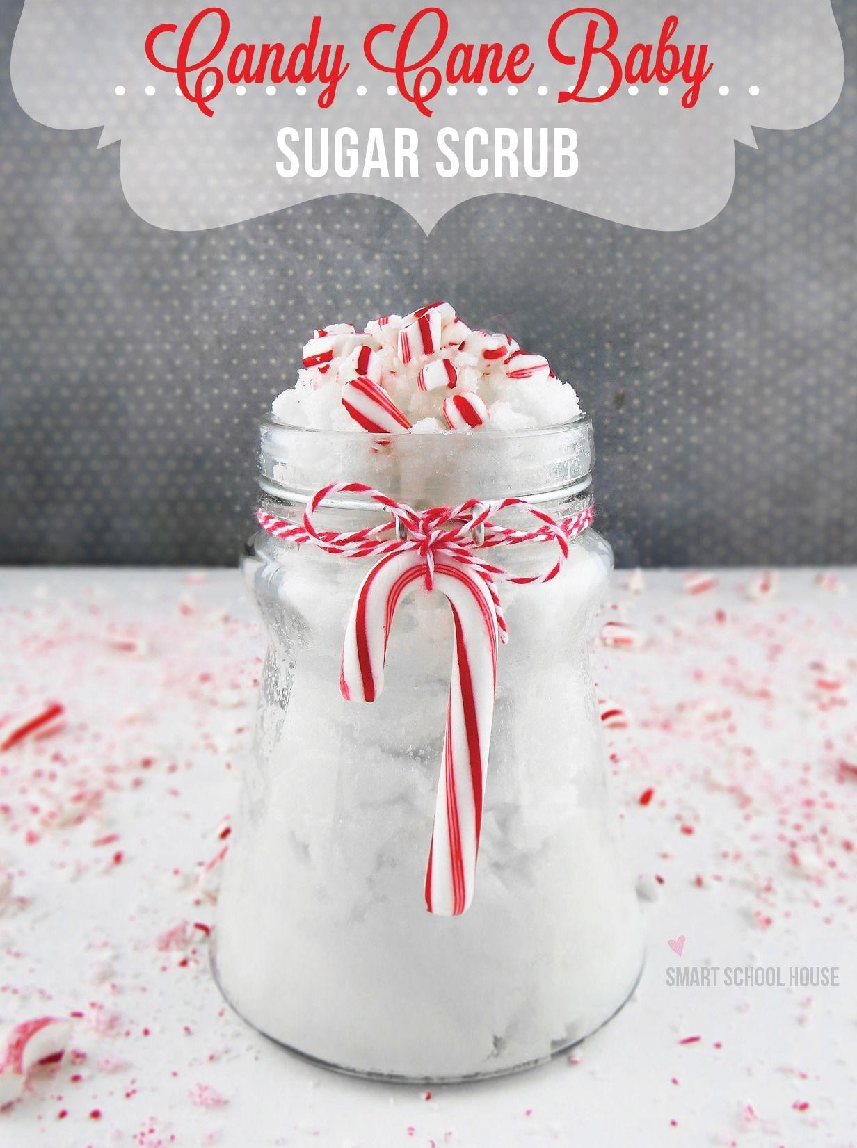 Candy Cane Baby is an easy #DIY sugar scrub that smells just like ...