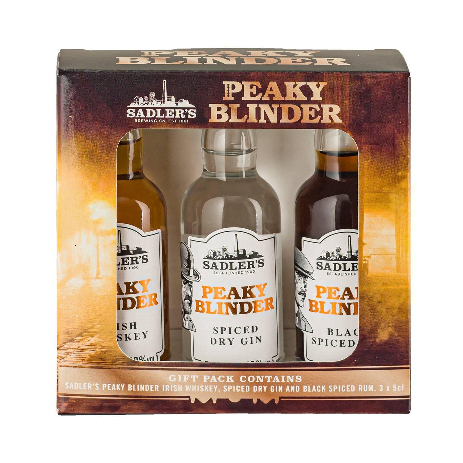 Peaky blinder 3 pack distillery mini spirits debenhams