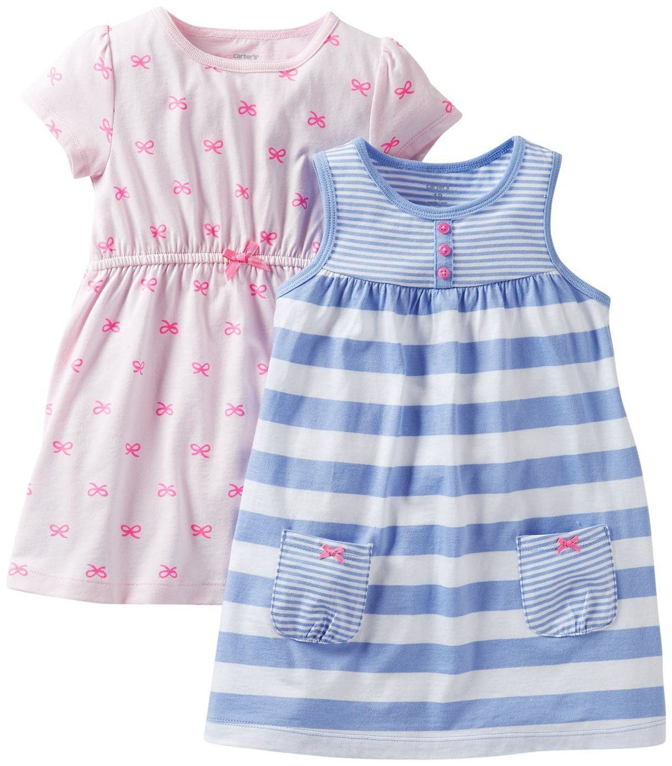 250cb0fb5a443 Amazon.com: Carter's Baby Girls' 2 Piece Dress and Romper Set (Baby):  Clothing
