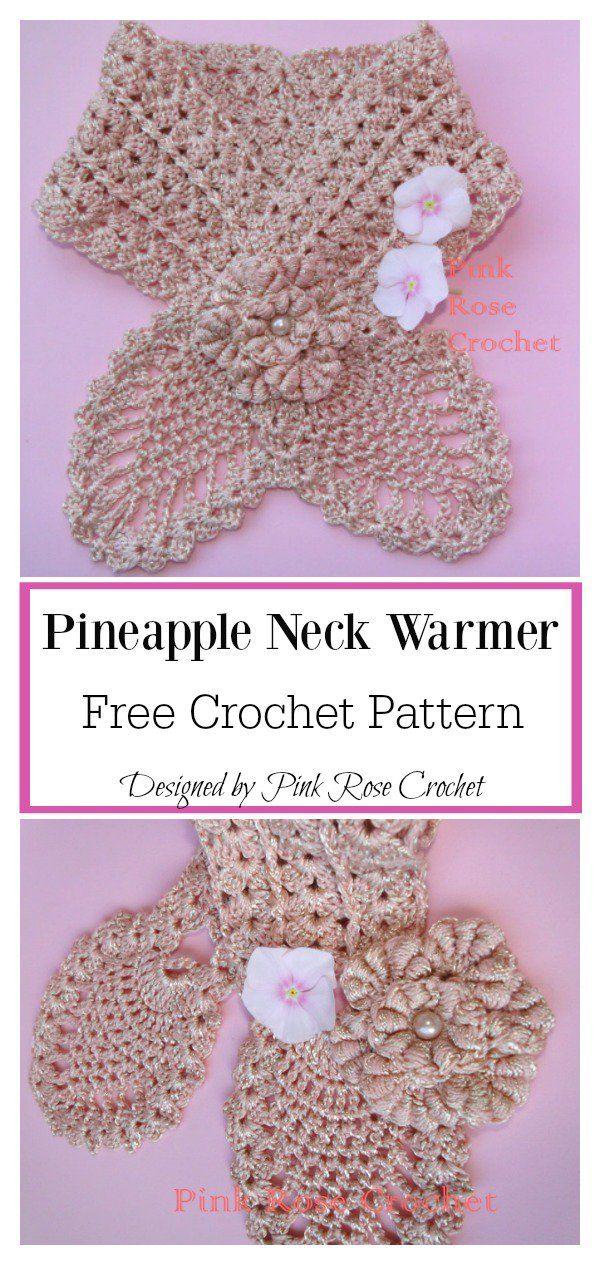 Pineapple Neck Warmer Free Crochet Pattern | Scarves4 | Pinterest ...