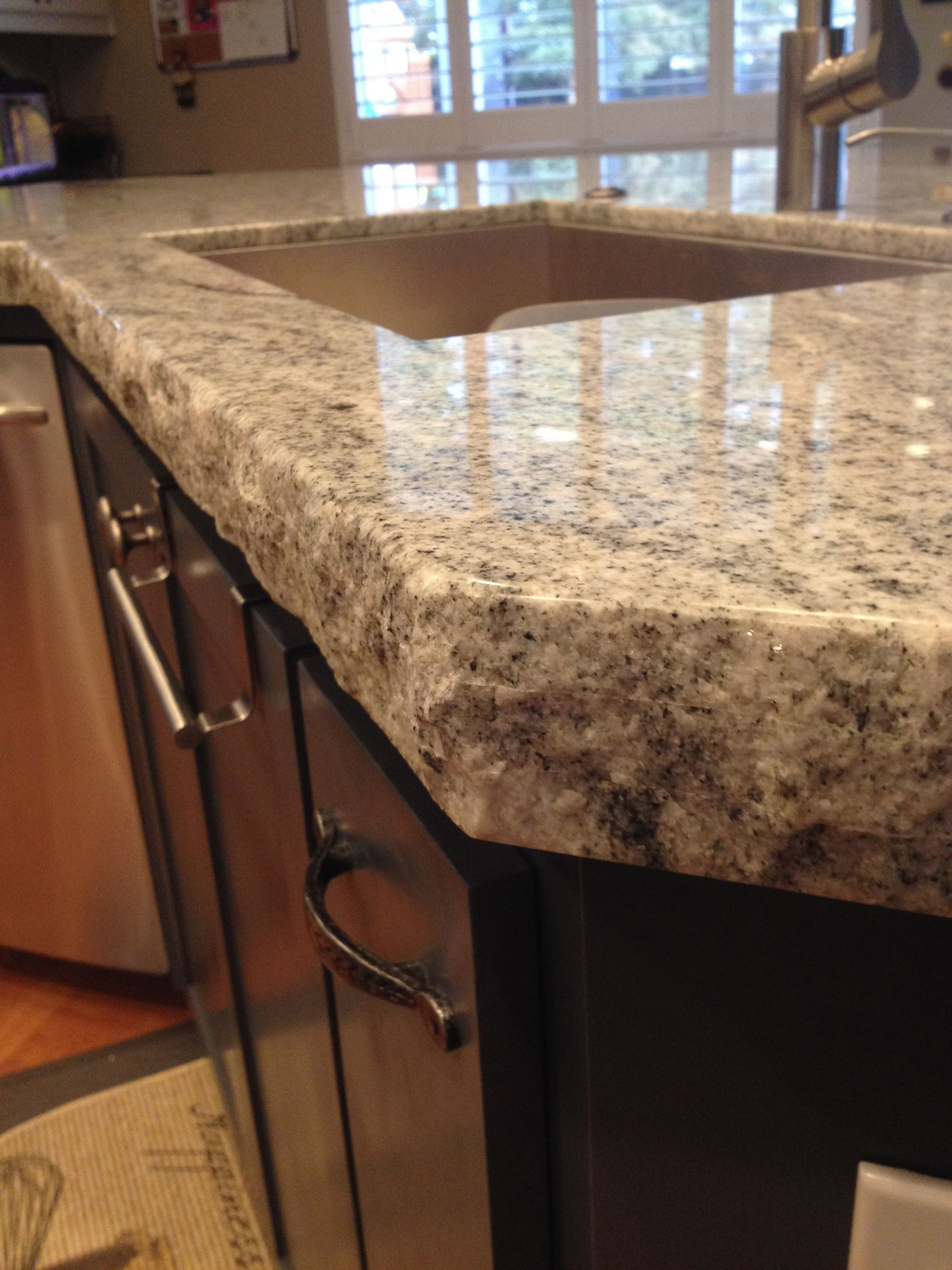 We Love The Rustic Outdoorsy Look With This Double Chisel Edge Granite Counter Top Luxury Outdoor Kitchen Affordable Kitchen Remodeling Galley Kitchen Remodel