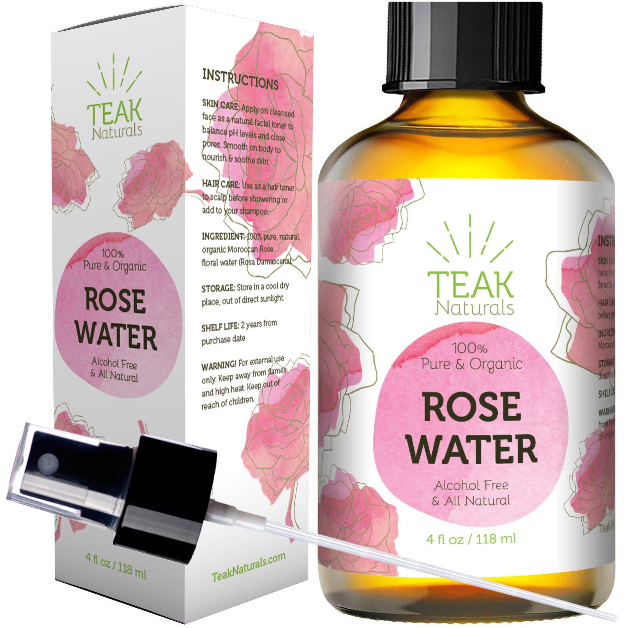 Organic Moroccan Rose Water Toner 4 Oz Natural Rose Water Best Rose Water Toner Rose Water