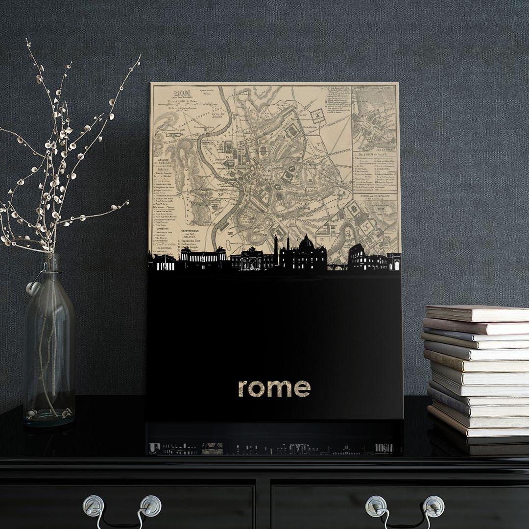Rome skyline by City Skyline Sepia | Displate thumbnail