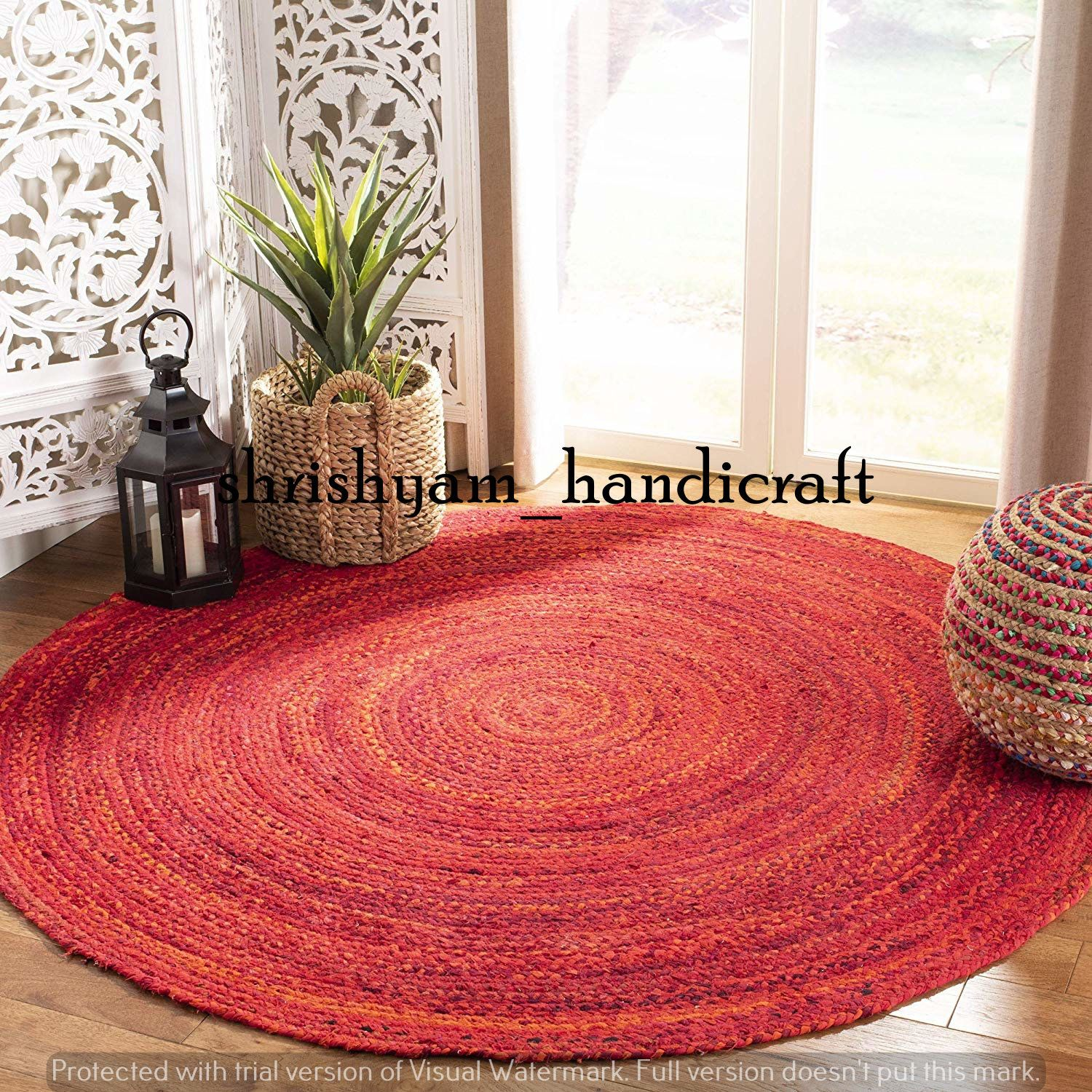 2 Feet Small Size Braided Round Rug Bohemian Decor Colourful Area Rug Round Rug Handmade Meditation Mat Circle Rug Home Decor Door Mat In 2020 Round Braided Rug Rugs On Carpet Floor Rugs