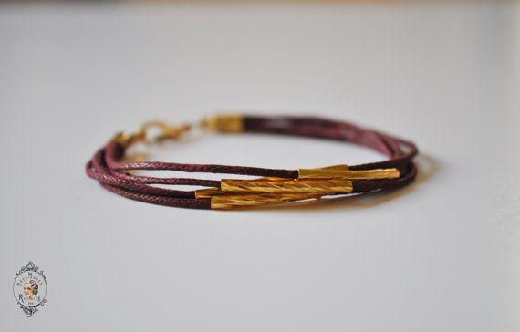 Bracelet Pierrette à 5 rangs en coton par precieusesridicules, €17.00