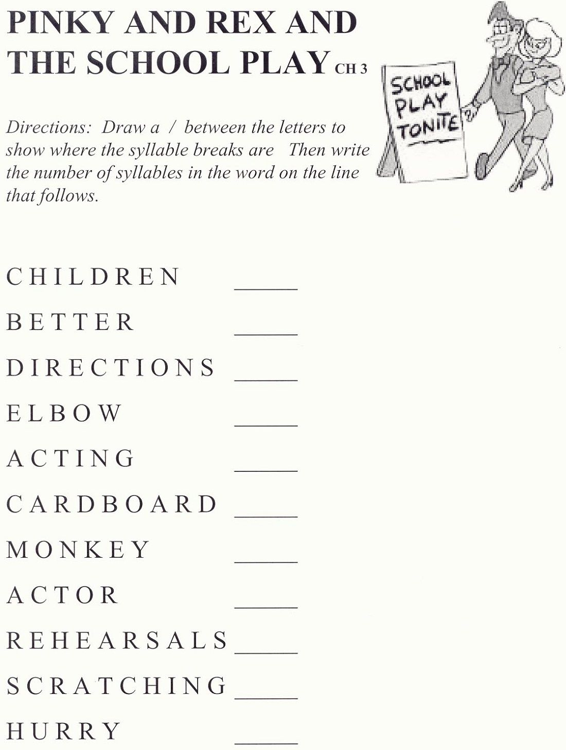 Pinky And Rex And The Play School Worksheets