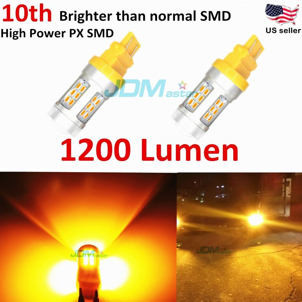 Jdm Astar 2x 1200lm 3157 3156 Amber Yellow 21smd Turn Signal Lights Led Bulbs Automotive Led Lights Led Bulb Led Lights