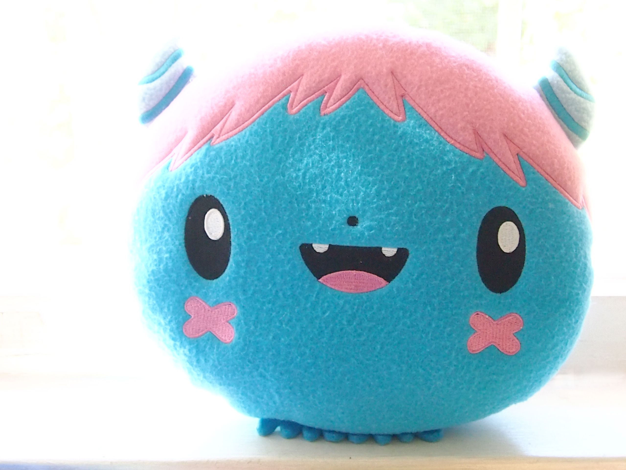 This super cute Booba plush measures 10 inches and is made of super soft fleece fiber. Can double as a pillow!  LIMITED EDITION OF 150 pieces!