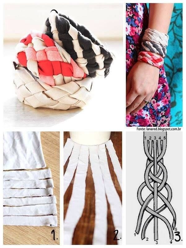 Armbänder Knoten Anleitung Diy T Shirt Stoff Sewing Pinterest