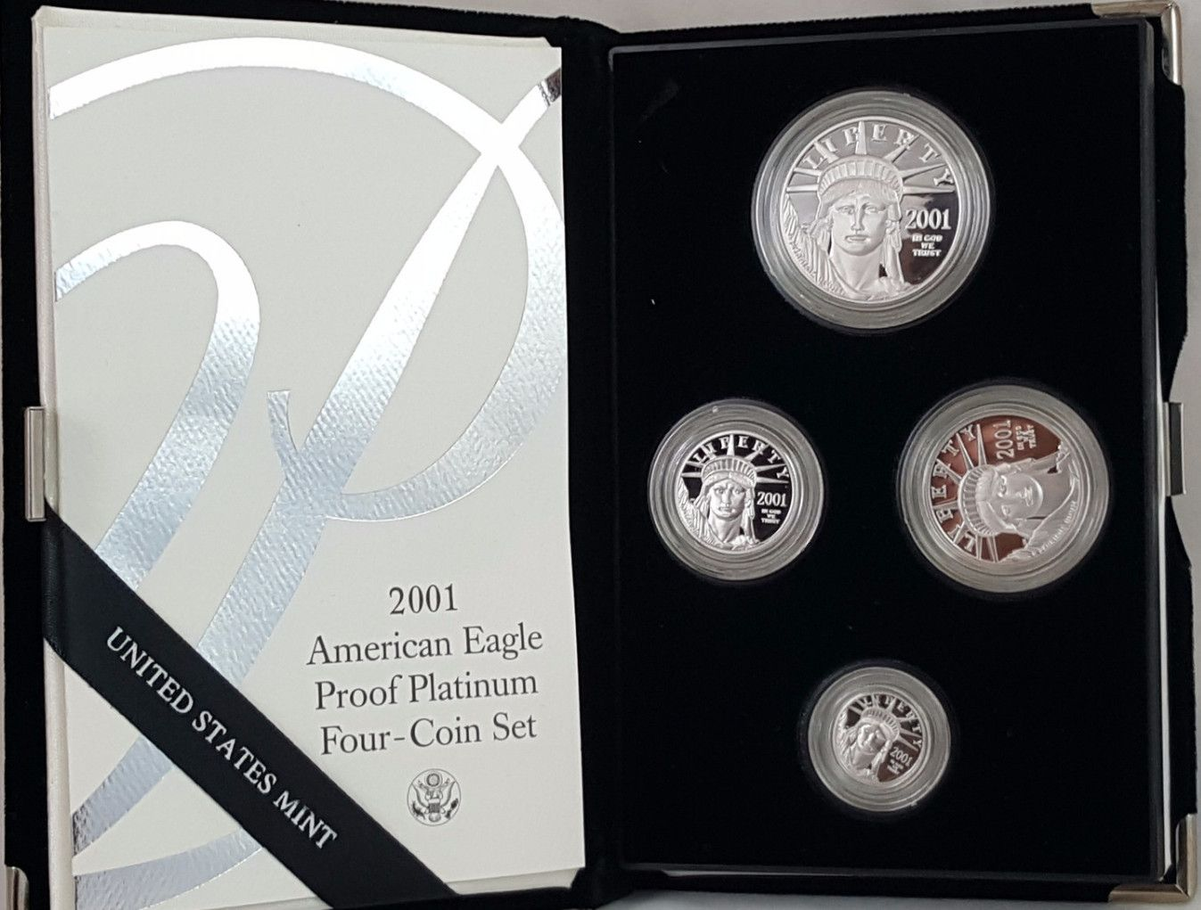 2001-W American Eagle Platinum Four-Coin Proof Set