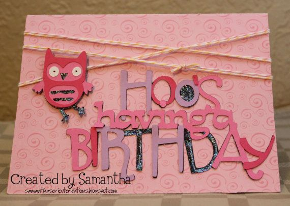 Owl birthday card from my Etsy store.