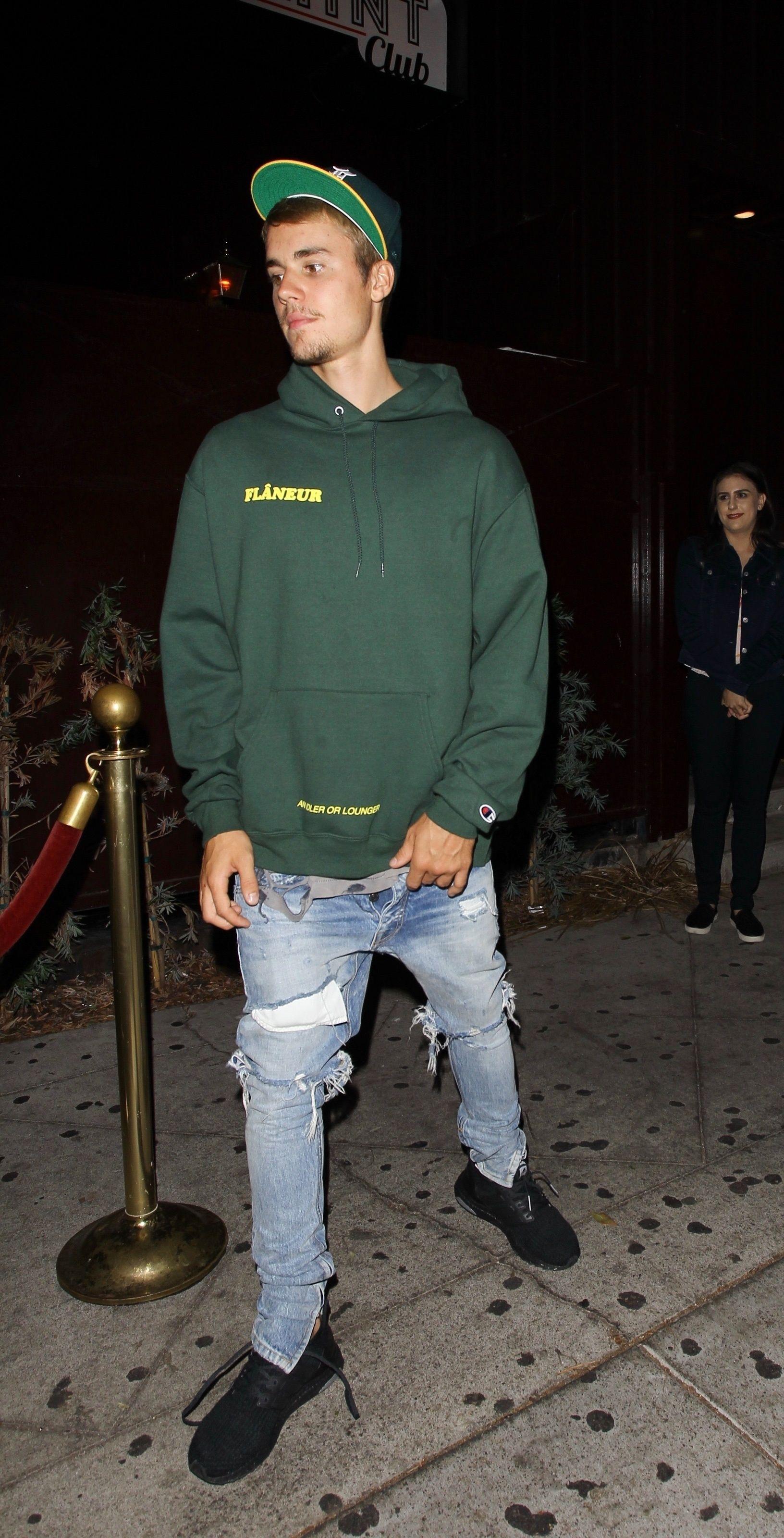 6c92353995e Justin Bieber wearing Fear of God Selvedge Denim Vintage Jeans