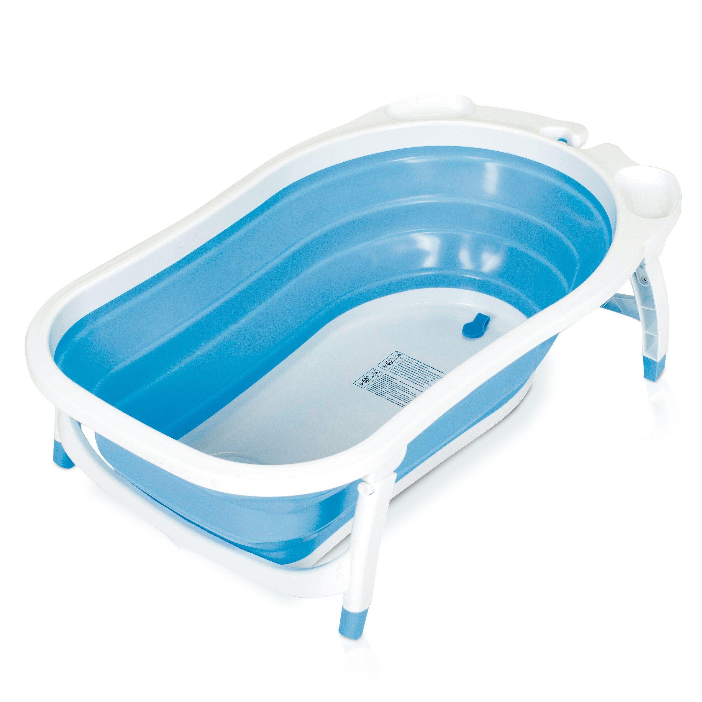 Baby Trend Karibu Folding Bath Tub, Blue/White | RV Baby | Pinterest