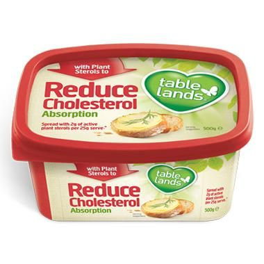 Tablelands sterol spread contains plant sterols to help reduce cholesterol absorption.
