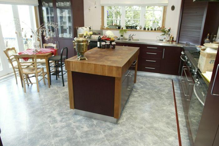 bodenbelag küche korkboden holzmöbel Küche Pinterest Kuchen - bodenbeläge für küche