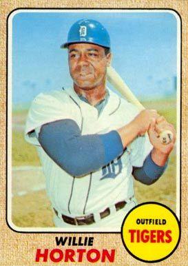 1968 Topps Willie Horton 360 Baseball Card 1968 Detroit Tigers
