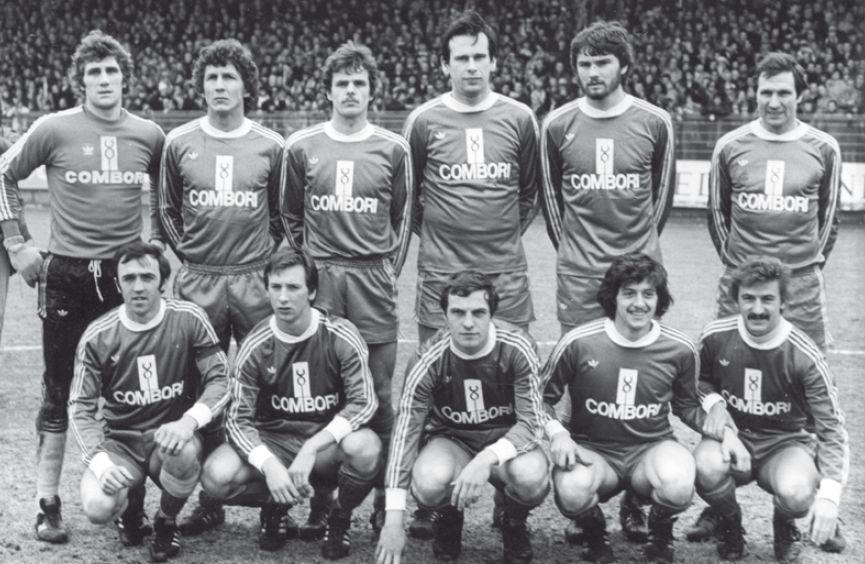 1979 SK Beveren with; Jean-Marie Pfaff, Paul Vangenechten, Heinz  Schönberger, Erwin Albert, Marc Baecke, Albert Cluytens, Wim Hofkens, Jean  Jansse… | Voetbal, Retro