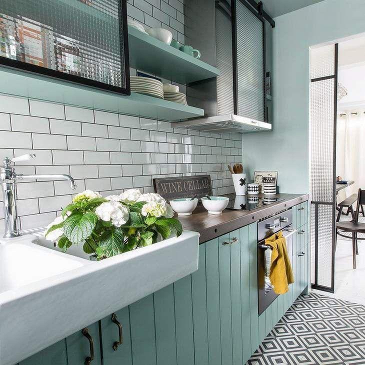 Cocina Estilo Vintage Decoracion Casa Pinterest Interiors - Cocina-estilo-vintage