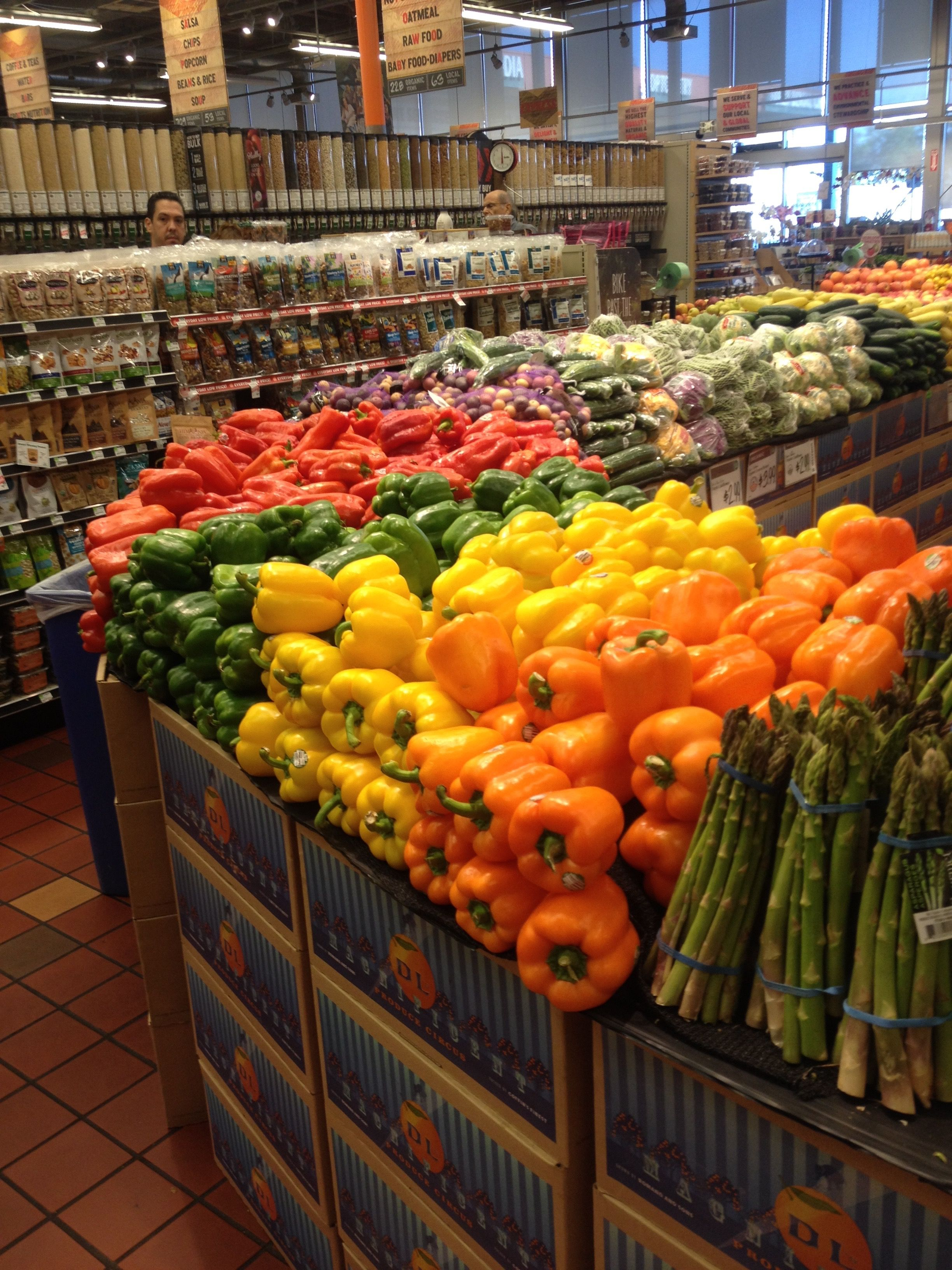 Fresh local ingredients that are merchandised in the
