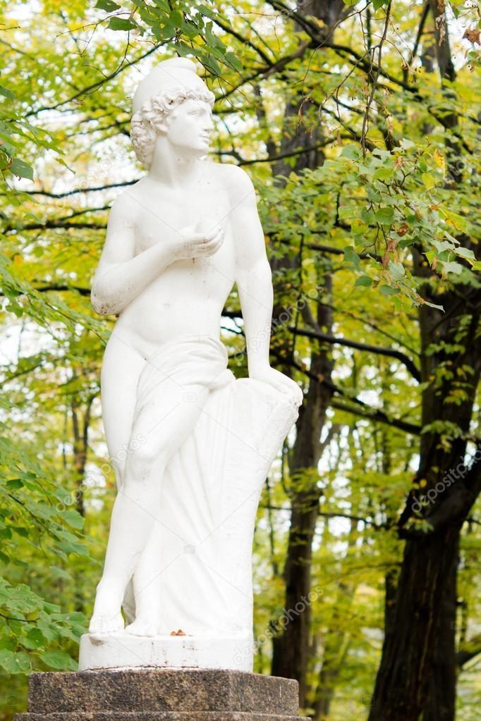 Garden statue of Greek god - Stock Photo , #SPONSORED, #Greek, #statue, #Garden, #Photo #AD