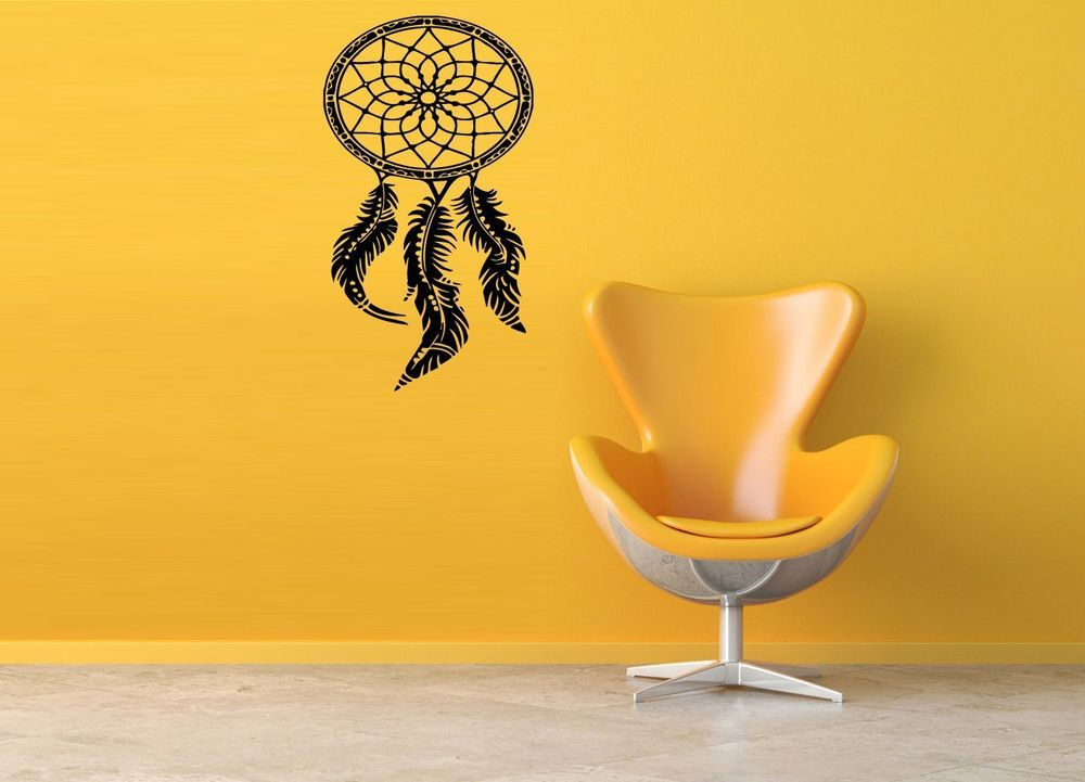 Wall Decal Vinyl Sticker Room Art Decor Floral Tribal Dream Catcher ...