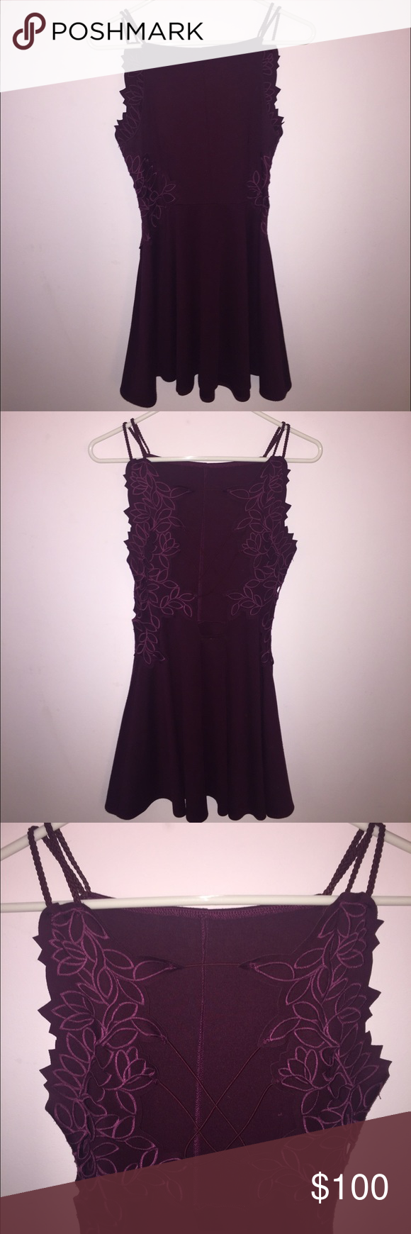 Free People open strappy back dress used once Free People Dresses Mini