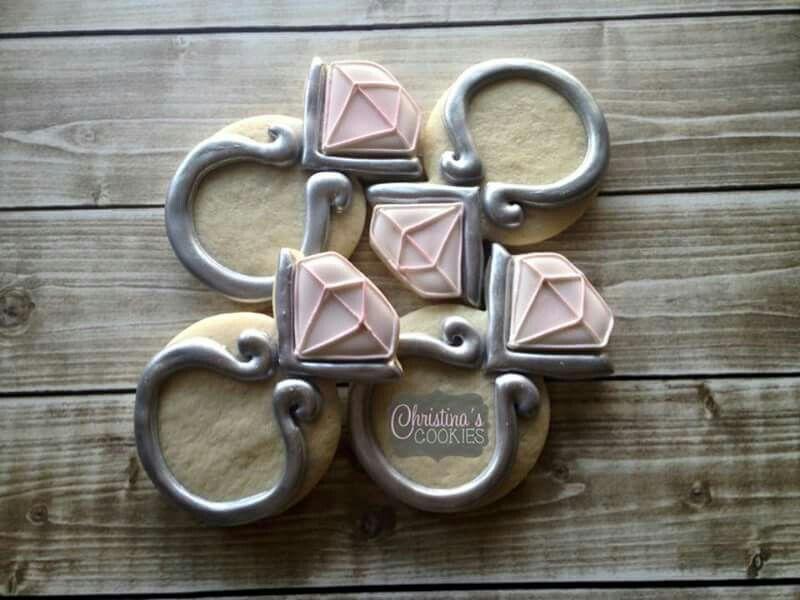 Diamond rings by Christina\'s Cookies | Beautiful Diamond Rings ...