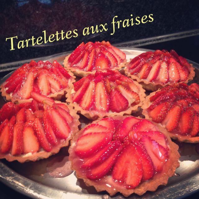 Tartelettes aux fraises. Homemade !