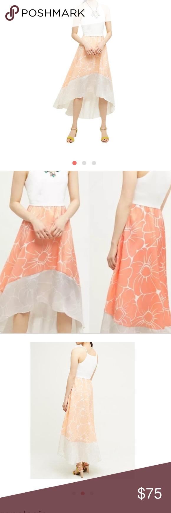 bdb8776650f0 Anthropologie hutch dress High low peachy hutch Anthropologie dress size  medium Anthropologie Dresses Maxi
