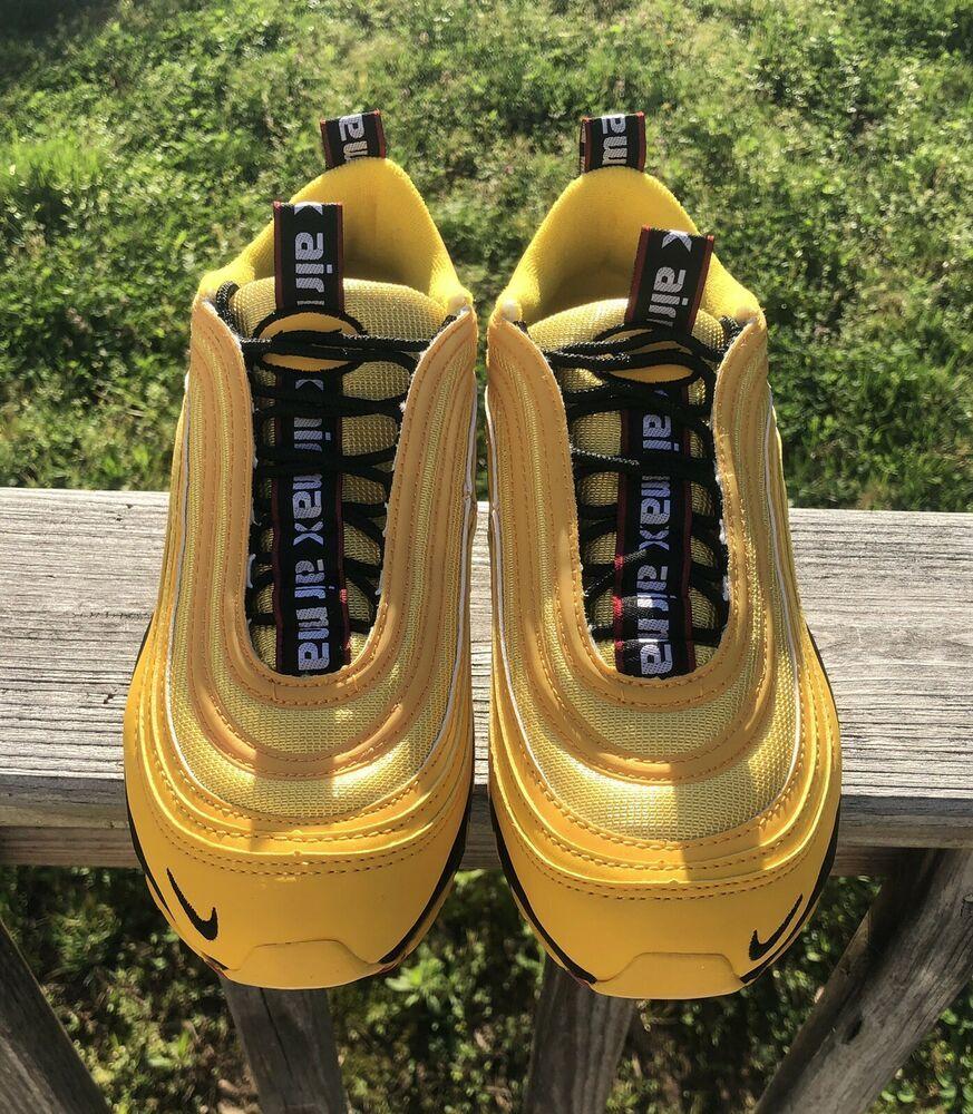 men's nike air max 97 premium casual shoes yellow