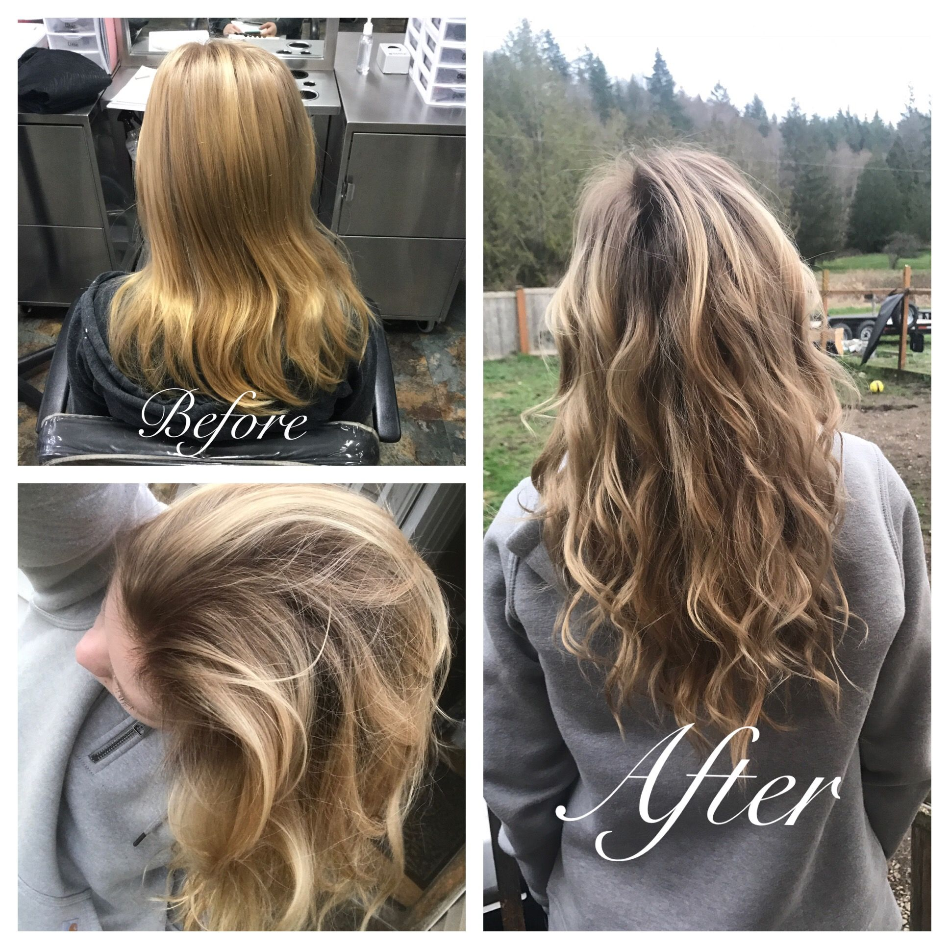 3 22 17 Root Shade Using Wella Colortouch Demi Permanent Hair Color Applied Like A Retouch Then Went Back With An Hair Color Brands Hair Color Demi Permanent